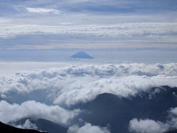 岡田さん北岳より富士山